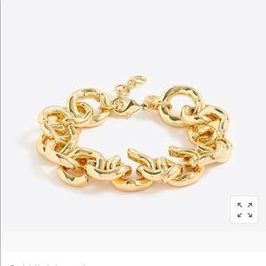 J crew gold link bracelet. One size
